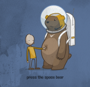 press the space bear