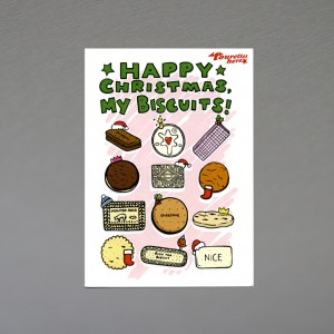 """Happy Christmas My Biscuits"" Christmas card"