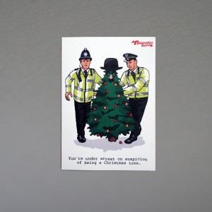 """You're Under Arrest..."" Christmas card"