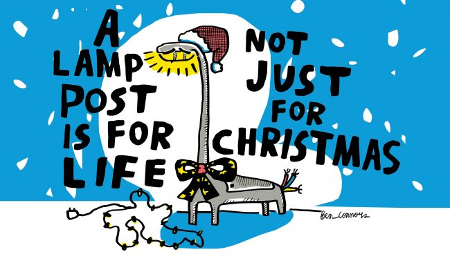 A lamp post is for life, not just for Christmas