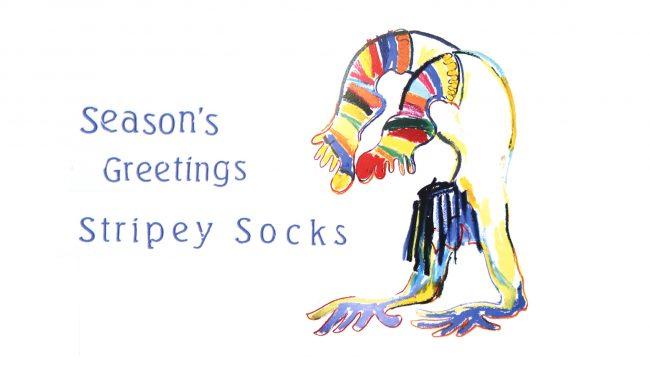 Seasons Greetings Stripey Socks!